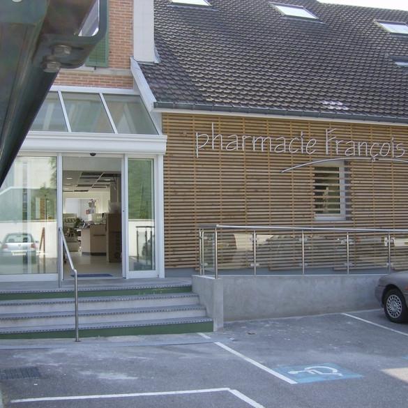 Restructuration et extension de la pharmacie François 1er à St Dizier - Patrick PLANCHON arch. (source archicontemporaine.org)