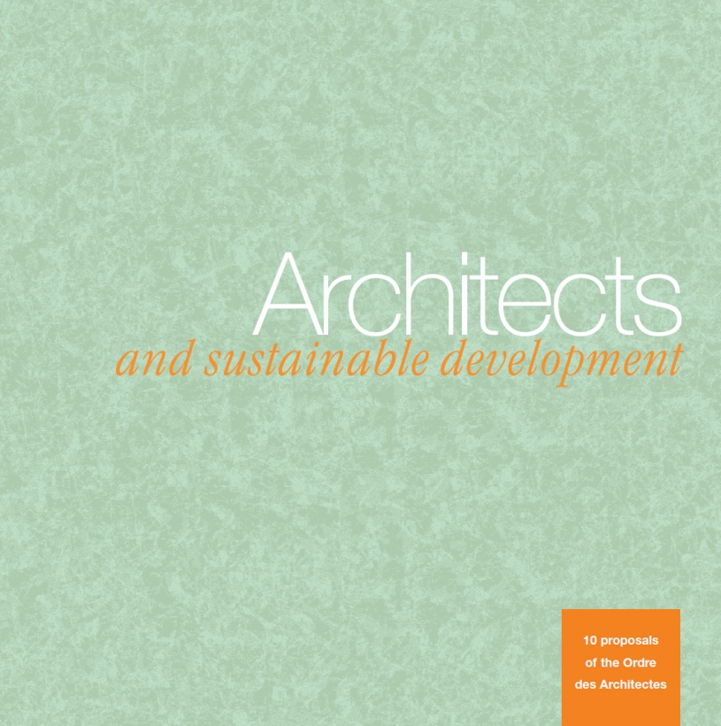 Couverture - Architects and sustainable development