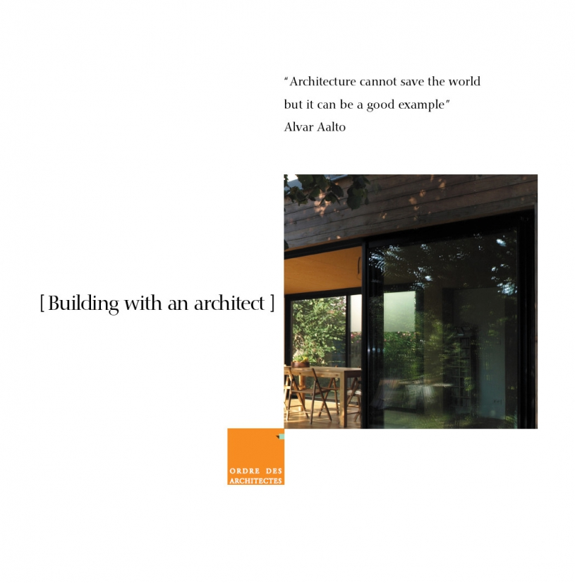 Couverture - Building with an architect