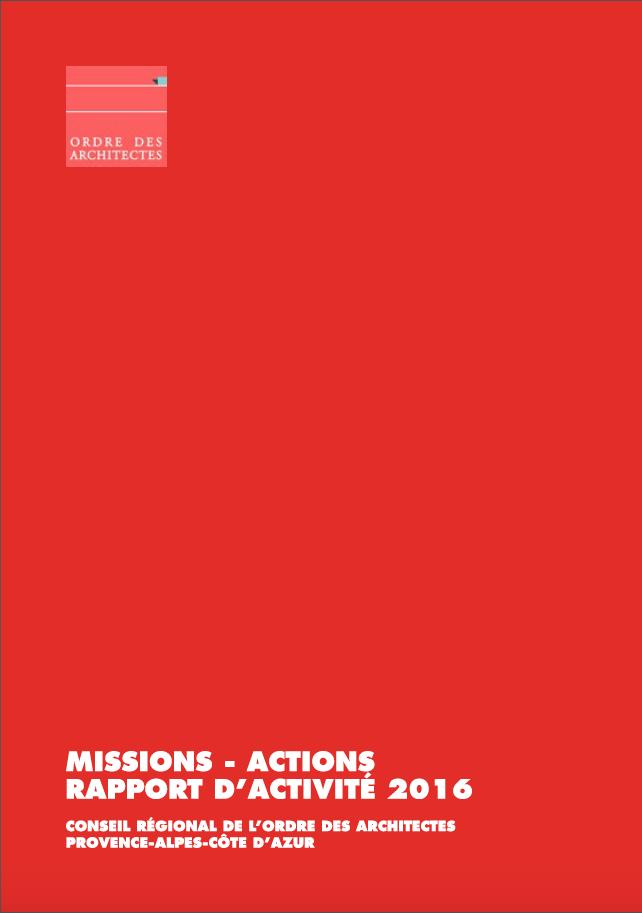 D couvrez le rapport d 39 activit 2016 ordre des architectes for Ordre d architectes