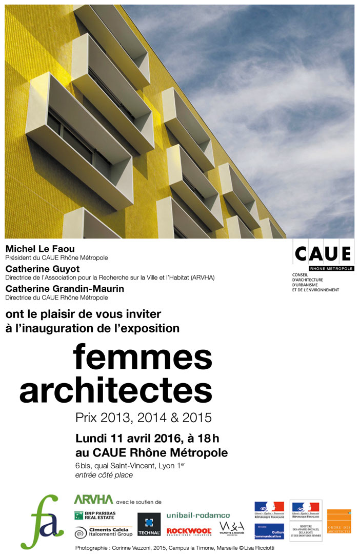 Vernissage Femmes architectes - Expo CAUE - Avril 2016
