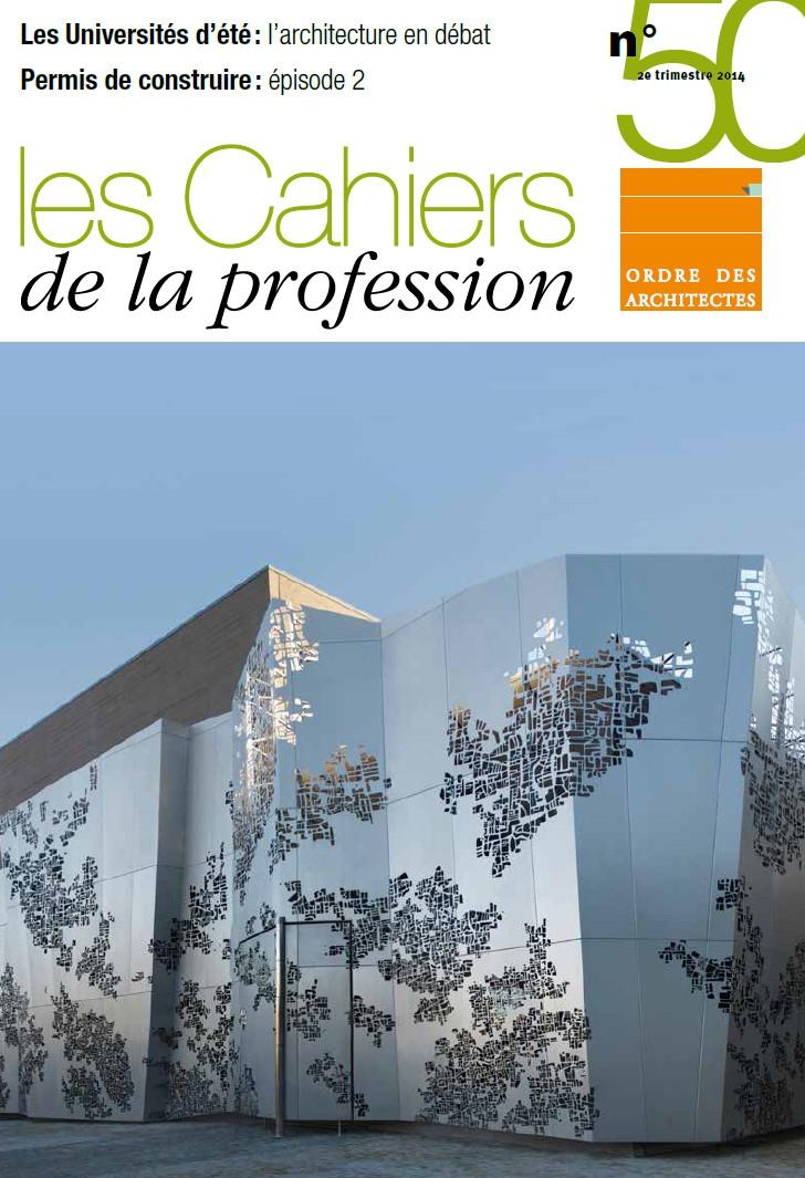 Couverture - Cahiers de la profession n°50
