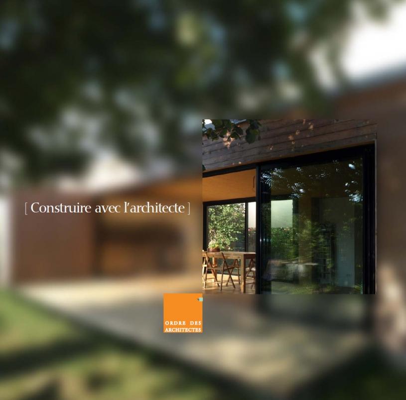 Couverture - Construire avec l'architecte