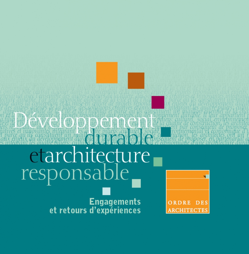 Couverture - Développement durable et architecture responsable