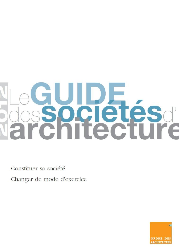Couverture - Le guide des sociétés d'architecture