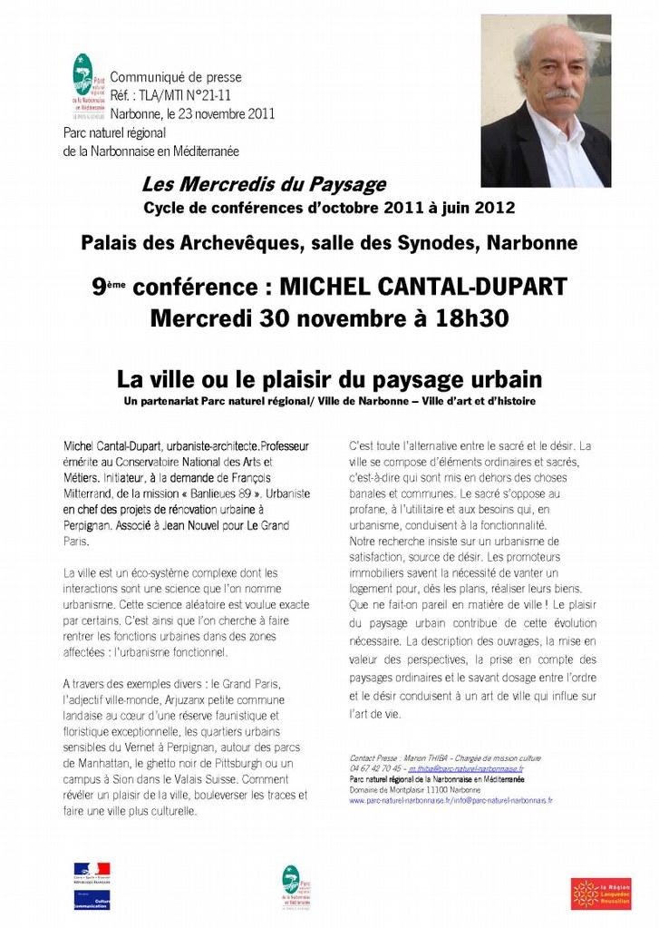 CP N°21-11 Mercredis du paysage le 30-11-2011 avec M. Cantal-Dupart.jpg