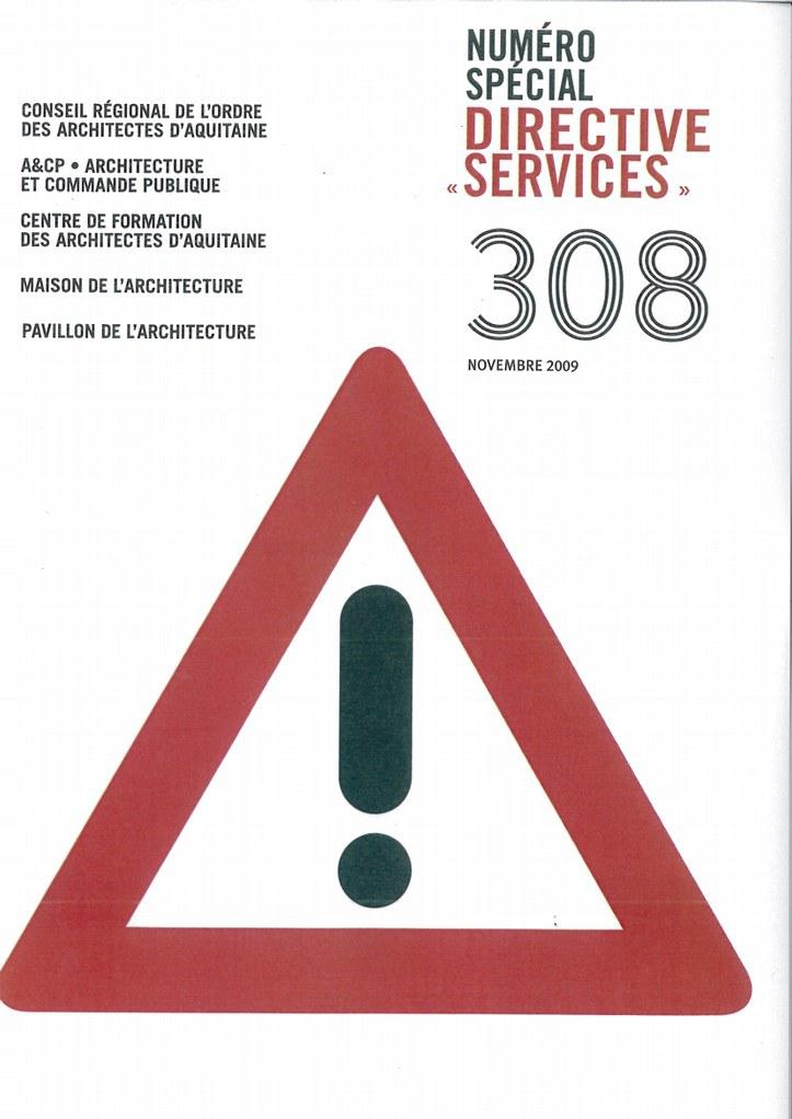 Couv.308 N° Spécial Directive Services