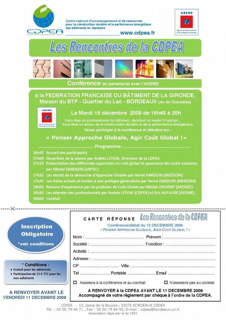 Invitation - incription CDPEA 15/12/9