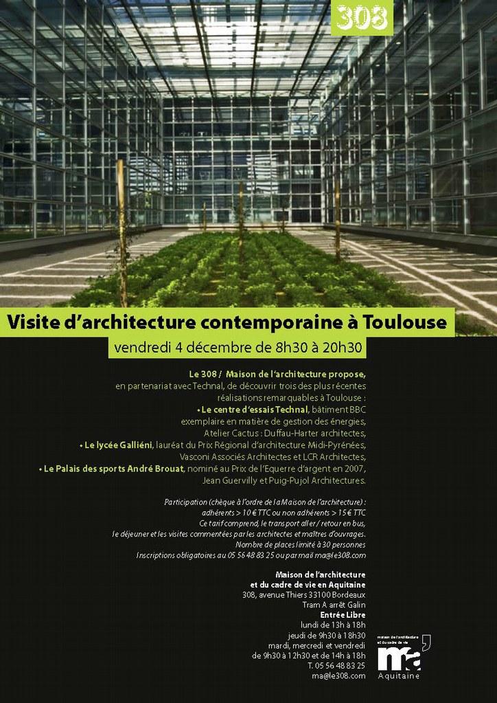 Invitation - réservation Visite Toulouse 4/12/9