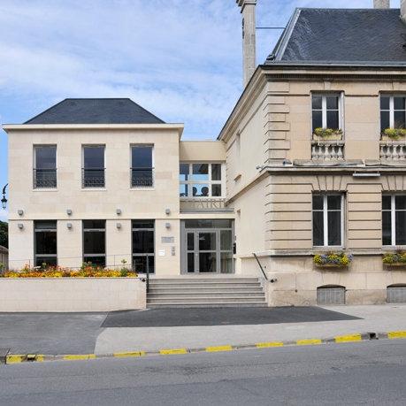 Extension de la mairie existante, Cormontreuil (Marne), Laure Manière arch.,