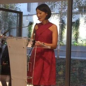 Fleur Pellerin à l'inauguration du nouveau siège de la Fondation Jérôme Seydoux-Pathé. Renzo Piano Arch.