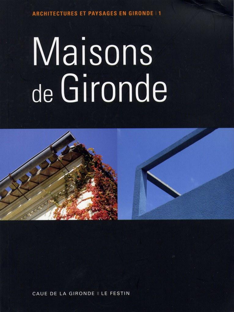 """couverture """"Maisons de Gironde"""""""