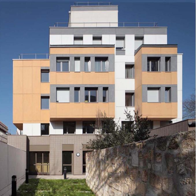 Maison des Babayagas à Montreuil, J. & S. Tabet arch.