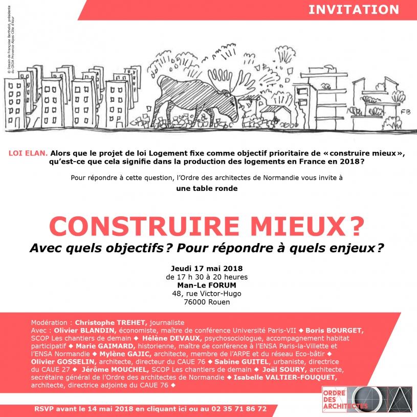 Invitation table ronde 17 mai 2018