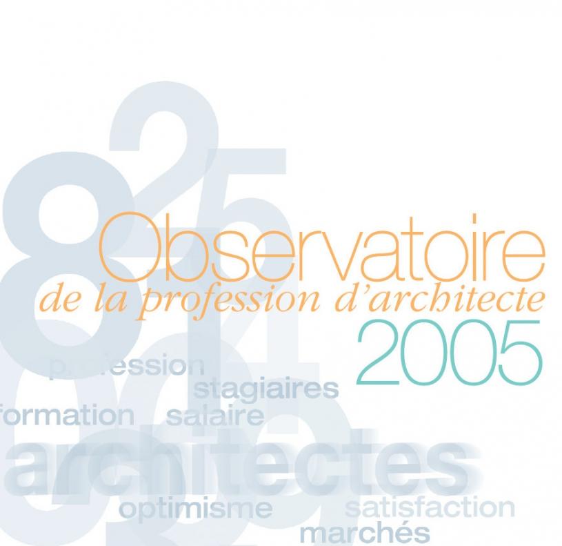 Couverture - Observatoire 2005