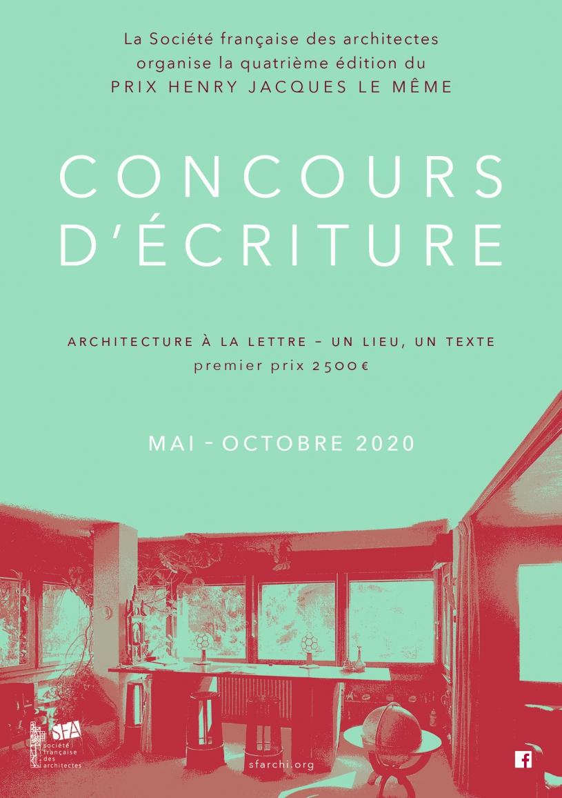 Concours d'écriture - Prix Henry Jacques Le Même - Edition 2020