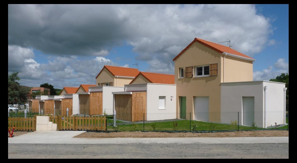 15 maisons groupées
