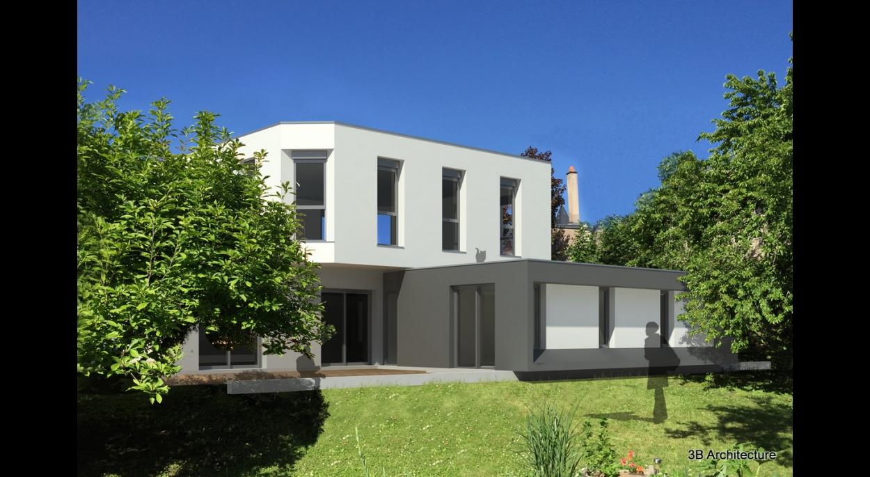 Extension et rénovation d'une maison en coeur de Nancy