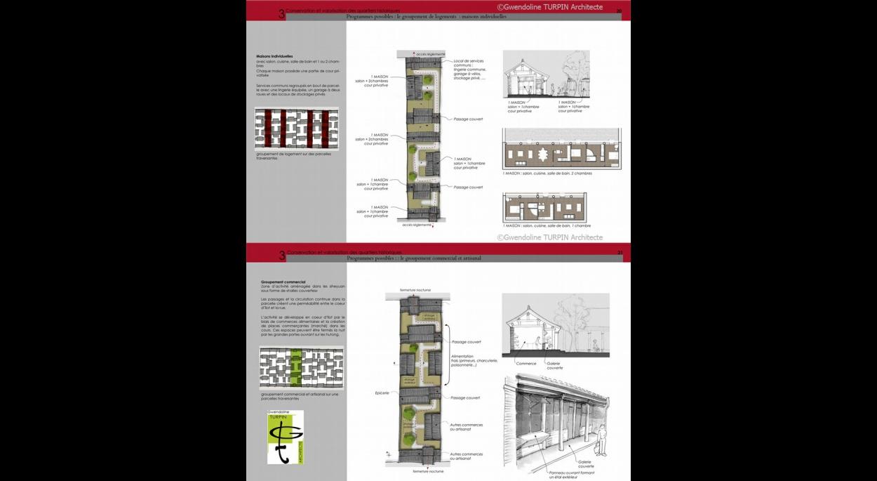 etude documentaire, diagnostic architectural et établissement de