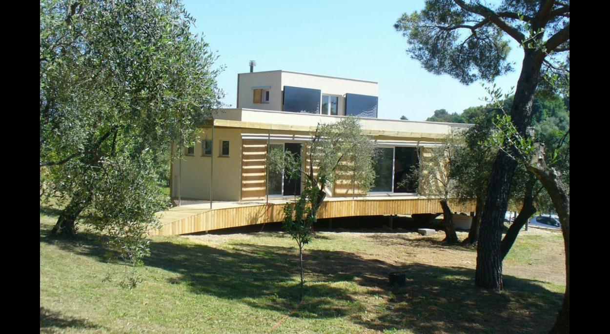maison contemporaine ossature bois | archibionature jérome bernard