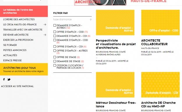 Rubrique petites annonces - CROA Hauts-de-France