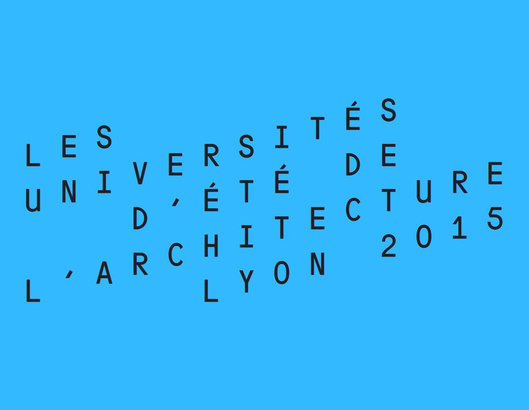 Universités d'été de l'architecture 2015