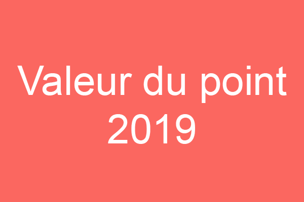 Valeur du point 2019