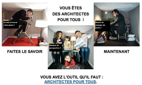 vous tes des architectes pour tous faites le savoir maintenant cnoa. Black Bedroom Furniture Sets. Home Design Ideas